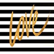 Valentines Stripes Iv Poster