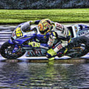 Valentino Rossi At Indy Poster