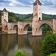 Valentre Bridge In Cahors France Poster