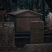 Valeria Butzloff Statue With Wreath Moonlight Near Infrared Poster