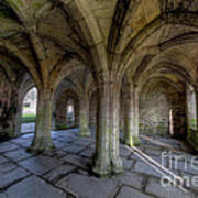 Valle Crucis Chapter House  Poster by Adrian Evans