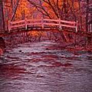 Valley Creek Bridge In Autumn Poster