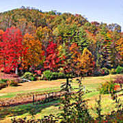 Valley Farm In The Fall Poster