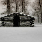 Valley Forge Cabin In Winter Poster