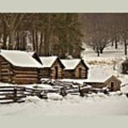 Valley Forge Cabins In Snow 2 Poster