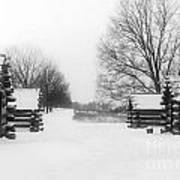 Valley Forge Cabins In Snow Poster