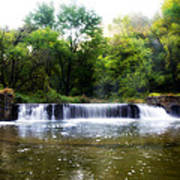 Valley Forge Pa - Valley Creek Waterfall  Poster