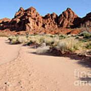 Valley Of Fire Wash Poster by Gary Whitton