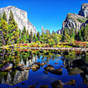 Valley View Reflection Yosemite National Park Poster by Scott McGuire