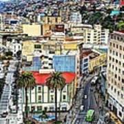 Valparaiso A Color Palette City Poster
