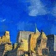 Van Gogh Meets Manhattan Poster