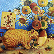 Van Gogh's Bad Cat Poster
