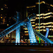 Vancouver - 2010 Olympic Cauldron Lit At Night Poster