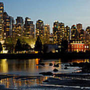 Vancouver Bc City Skyline And Deadman's Island Poster