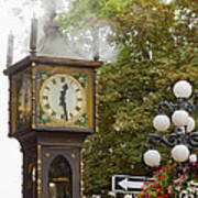 Vancouver Bc Historic Gastown Steam Clock Poster