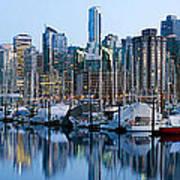 Vancouver Bc Skyline Along False Creek Poster