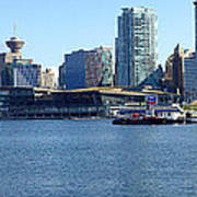 Vancouver Bc Skyline Panorama Canada. Poster by Gino Rigucci
