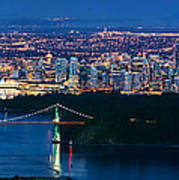 Vancouver From Cypress Mountain Poster