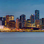 Vancouver From Lonsdale Quay Poster