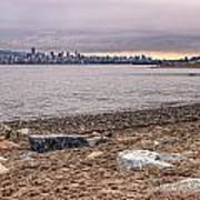 Vancouver Skyline From Jericho Beach Poster