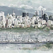 Vancouver Skyline Poster by Maryam Mughal