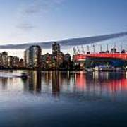 Vancouver Skyline With Bc Place Poster