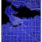 Vancouver Street Map - Vancouver Canada Road Map Art On Colored  Poster
