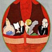 Vanity Fair Cover Featuring Two Couples Poster