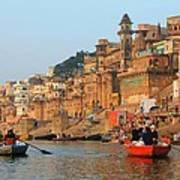 Varanasi From The Ganges River Poster