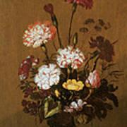 Vase Of Flowers Poster by Hans Bollongier