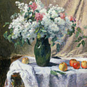 Vase Of Flowers Poster by Henri Lerolle