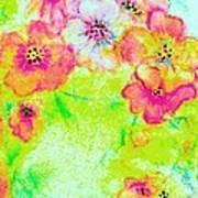 Vase Of Spring Flowers Poster