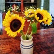 Vase Of Sunflowers Poster