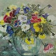 Vase With Pansies Poster