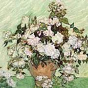 Vase With Pink Roses Poster