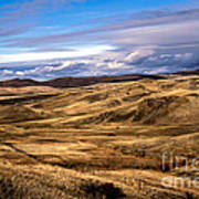 Vast View Of The Rolling Hills Poster by Robert Bales