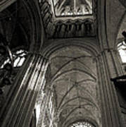Vaults Of Rouen Cathedral Poster