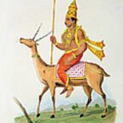 Vayu, Engraved By C. De Motte Poster