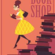 Vector Illustration Of Bookstore, Books Poster