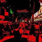 Vegas At Night Poster
