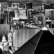 Vegas Black And White Poster