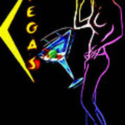 Vegas Girls Poster by Steve K