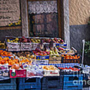 Vegetable Stand Italy Poster