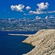 Velebit Mountain From Island Of Pag Poster
