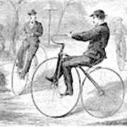 Velocipedes, 1868 Poster