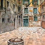 Venetian Courtyard 02 Elena Yakubovich Poster