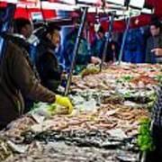 Venetian Fish Mongers Poster