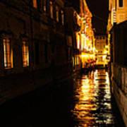 Venetian Golden Glow Poster