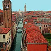 Venetian Street Scene Poster