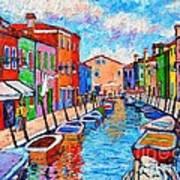 Venezia Colorful Burano Poster